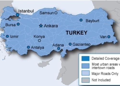 نقشه اصلی کشور ترکیه محصول 2016