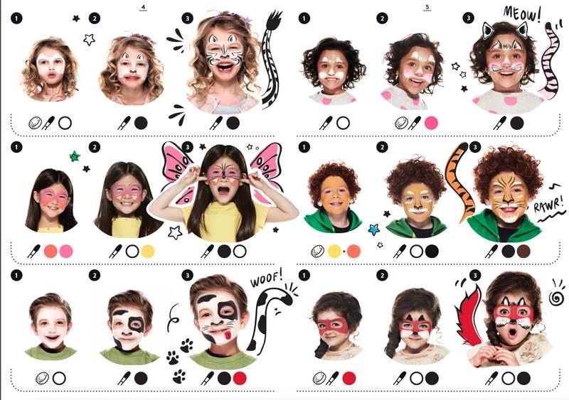 نقاشی صورت کودکان با اشکال مختلف