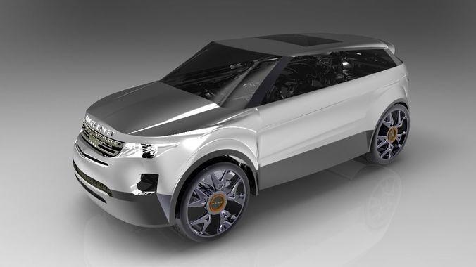 مدل ماشین Range Rover Evoque طراحی با SolidWorks