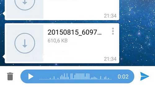 آموزش ارسال فایل MP3 به صورت ویس یا صدا در تلگرام از پرامیس شاپ