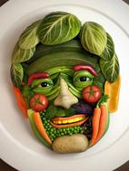 ابتکارات زیبا برای تزیین غذا و سالاد
