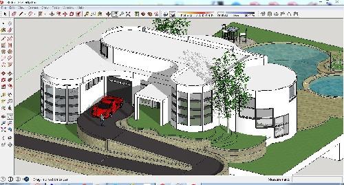 دانلود ویلا ۳ بعدی اسکچاپی EE8 …… شامل (تنها) فایل ۳ بعدی اسکچاپی