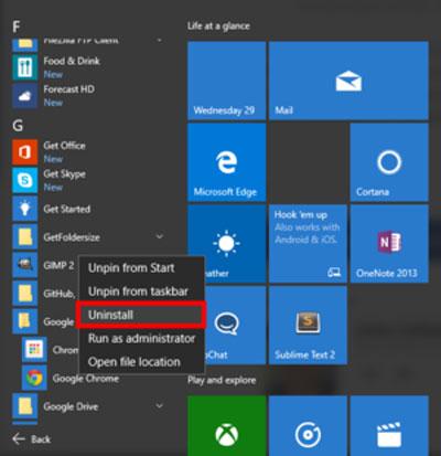 چگونه در ویندوز 10 برنامه ها را پاک و لغو نصب کنیم؟