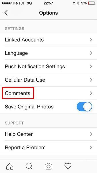 حذف اتومات کامنت های توهین آمیز در اینستاگرام
