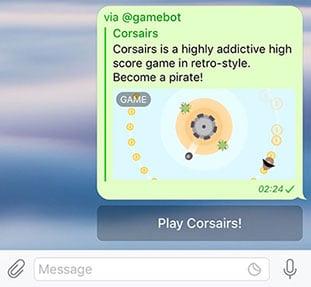 بازی در محیط تلگرام
