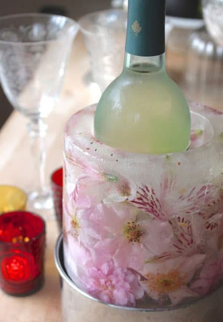 تزئین ظرف یخی